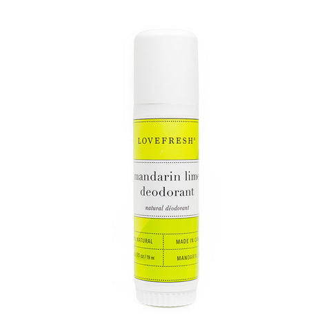 Lovefresh Mandarin Lime Travel Deodorant Stick