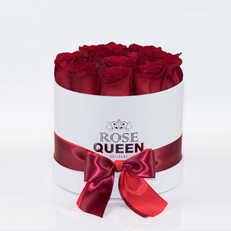 White Box - Red FRESH CUT Roses