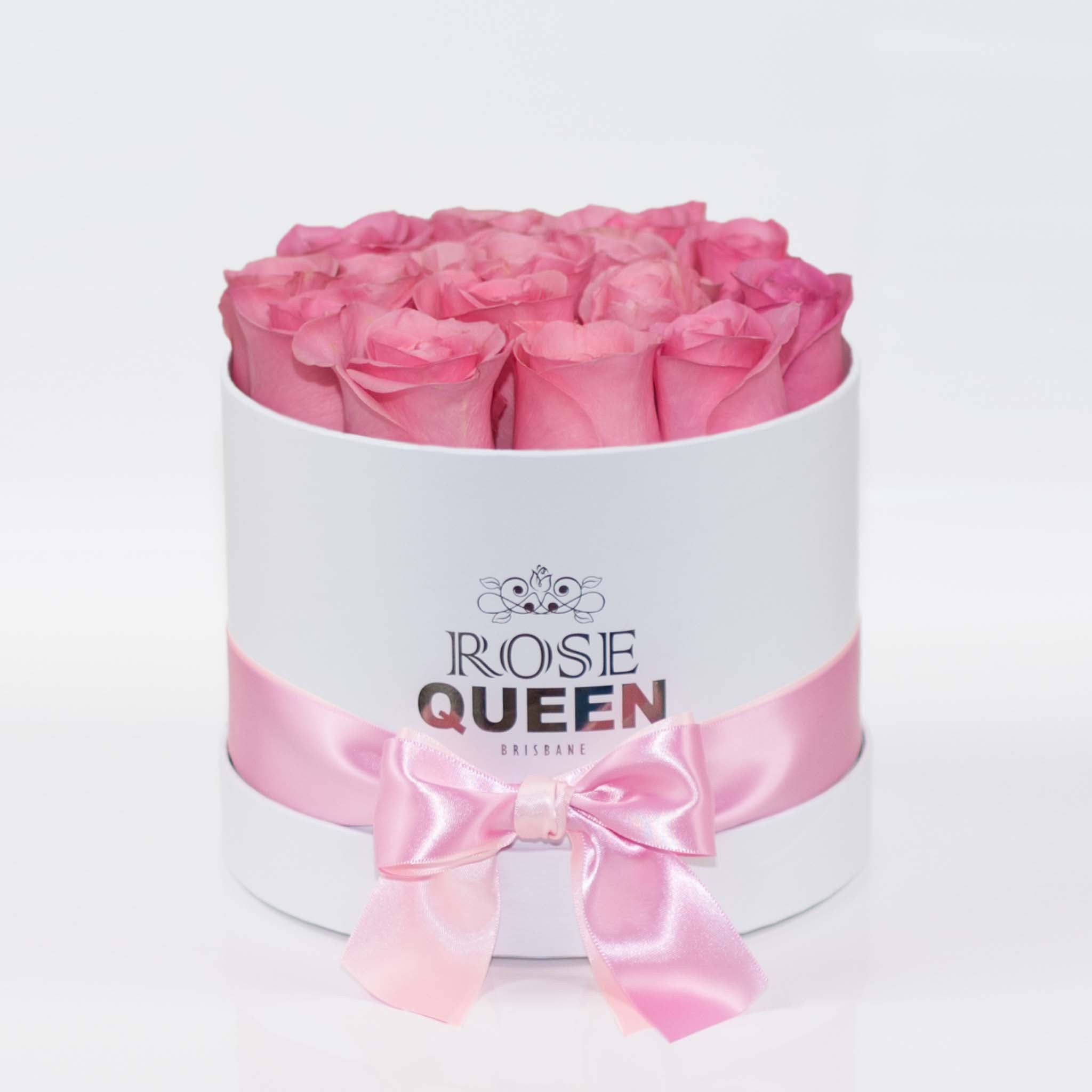 White Box - Pink FRESH CUT Roses