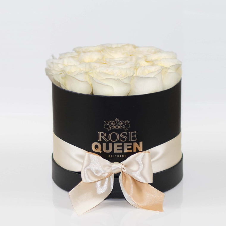 Black Box - Cream FRESH CUT Roses