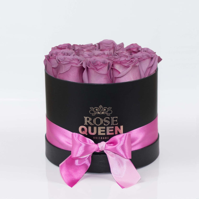 Black Box - Purple FRESH CUT Roses