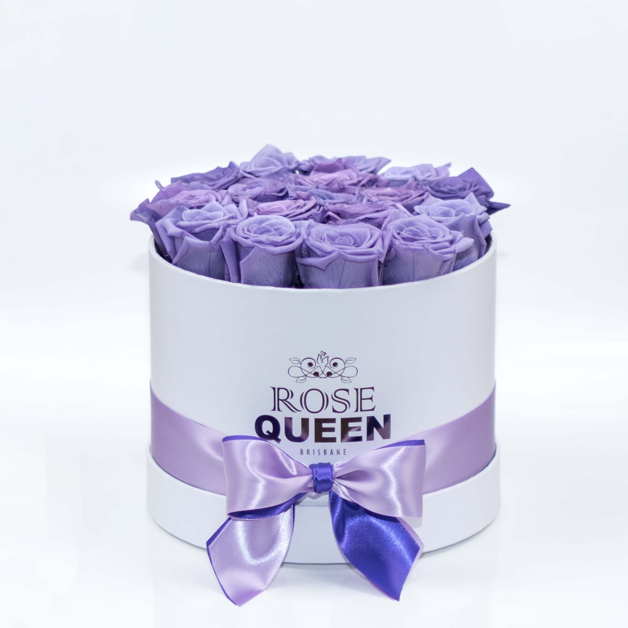 White Box - Purple ETERNITY Roses