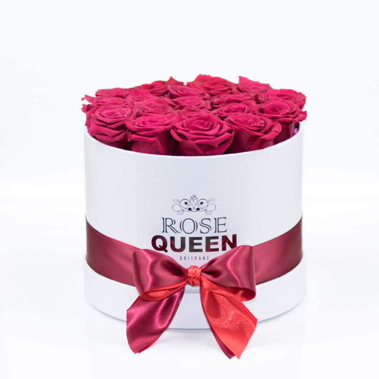White Box - Red ETERNITY Roses