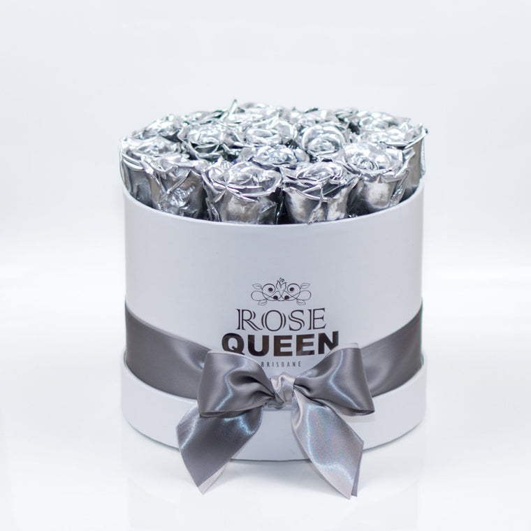White Box - Silver ETERNITY Roses