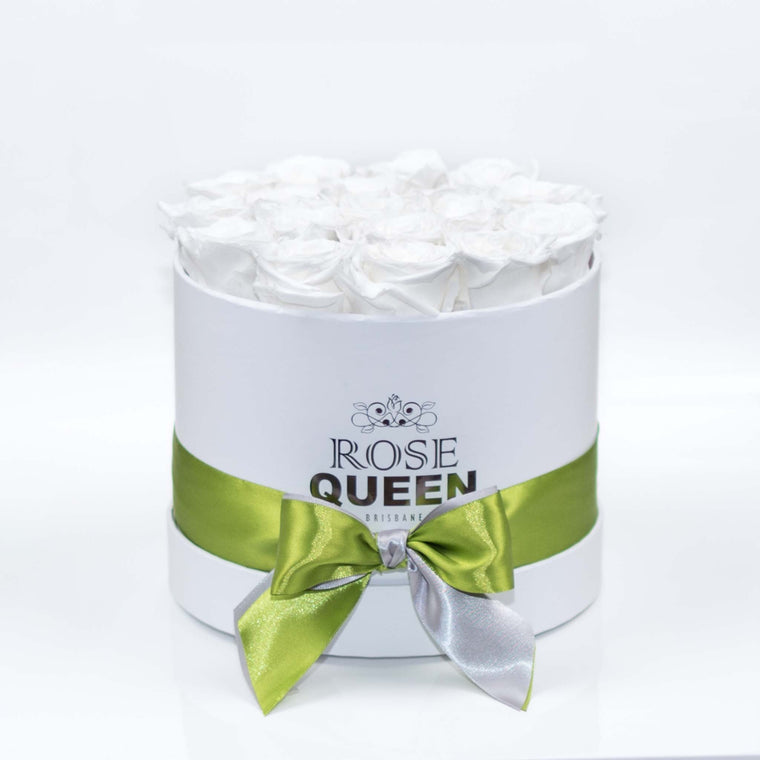 White Box - White ETERNITY Roses