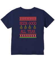Been Good All Year Ugly Christmas Sweater Inspired Funny Toddler T-Shirt