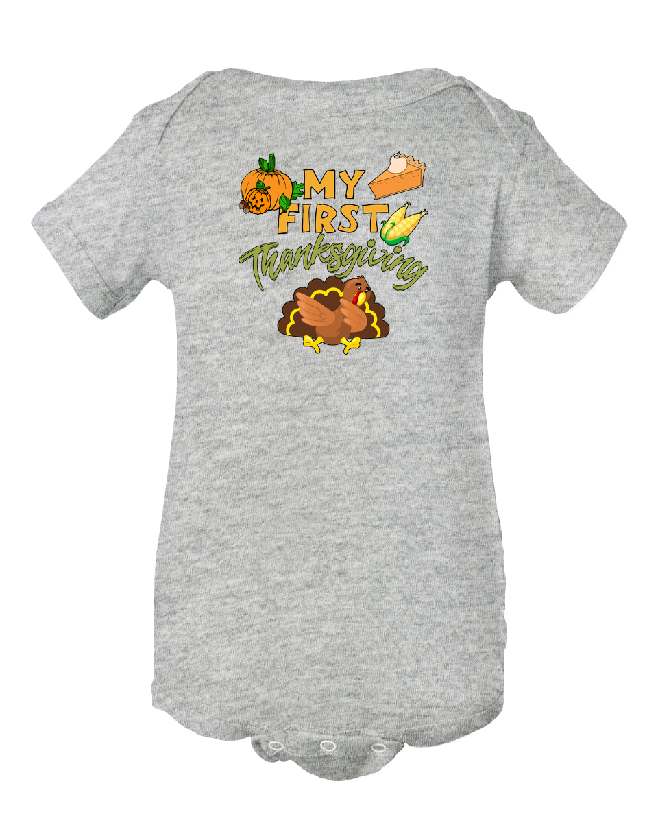 My First Thanksgiving Baby Onesie Bodysuit