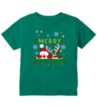 Merry Christmas Santa and Reindeer Rudolph Toddler T-Shirt