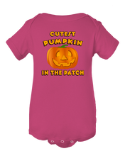 Cutest Pumpkin In The Patch Funny Halloween Baby Onesie
