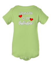 Grandpa Is My Valentine Baby Onesie Bodysuit