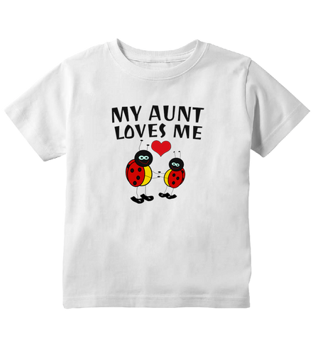 My Aunt Loves Me Ladybug Toddler T-Shirt