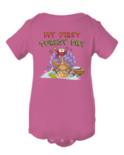 Funny My first Turkey Day Baby Onesie