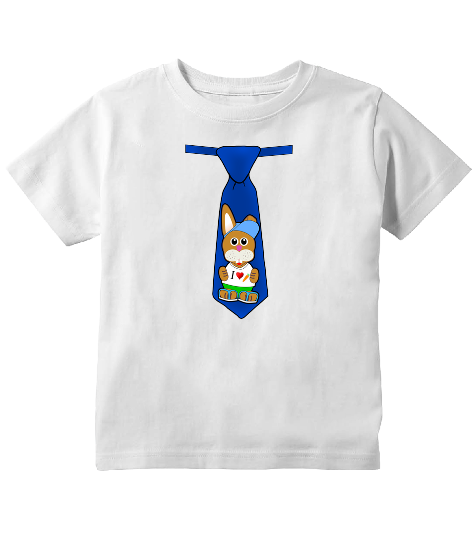 Easter Bunny Tie Toddler Boy Easter Toddler T-Shirt