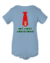 My First Christmas Neck Tie Reindeer Infant Creeper Baby Onesie Bodysuit