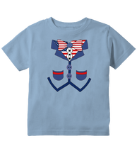 Patriotic 4th of July Toddler Tuxedo T-Shirt