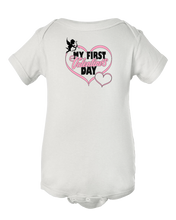 Cute My First Valentines Day Cupid Baby Onesie Bodysuit
