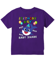 Birthday Boy Baby Shark Doo Doo Doo Outfit Toddler T-Shirt