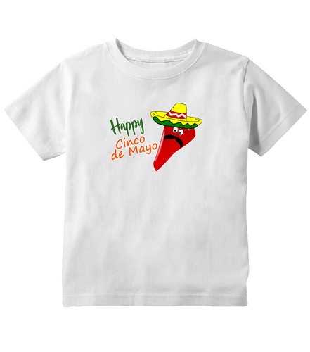 Happy Cinco de Mayo Mexican Sombrero Toddler T-Shirt