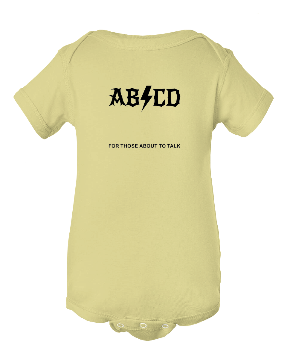 ABCD For Those Who About To Talk Baby Onesie Bodysuit