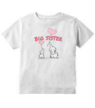 Big Sister Elephant And Heart Balloons Toddler T-Shirt
