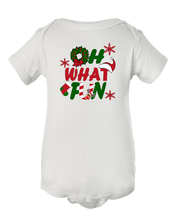 Unisex Oh What Fun Christmas Baby Onesie Bodysuit