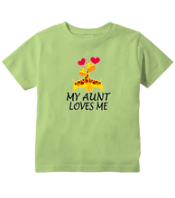 My Aunt Loves Me Giraffes Toddler T-Shirt