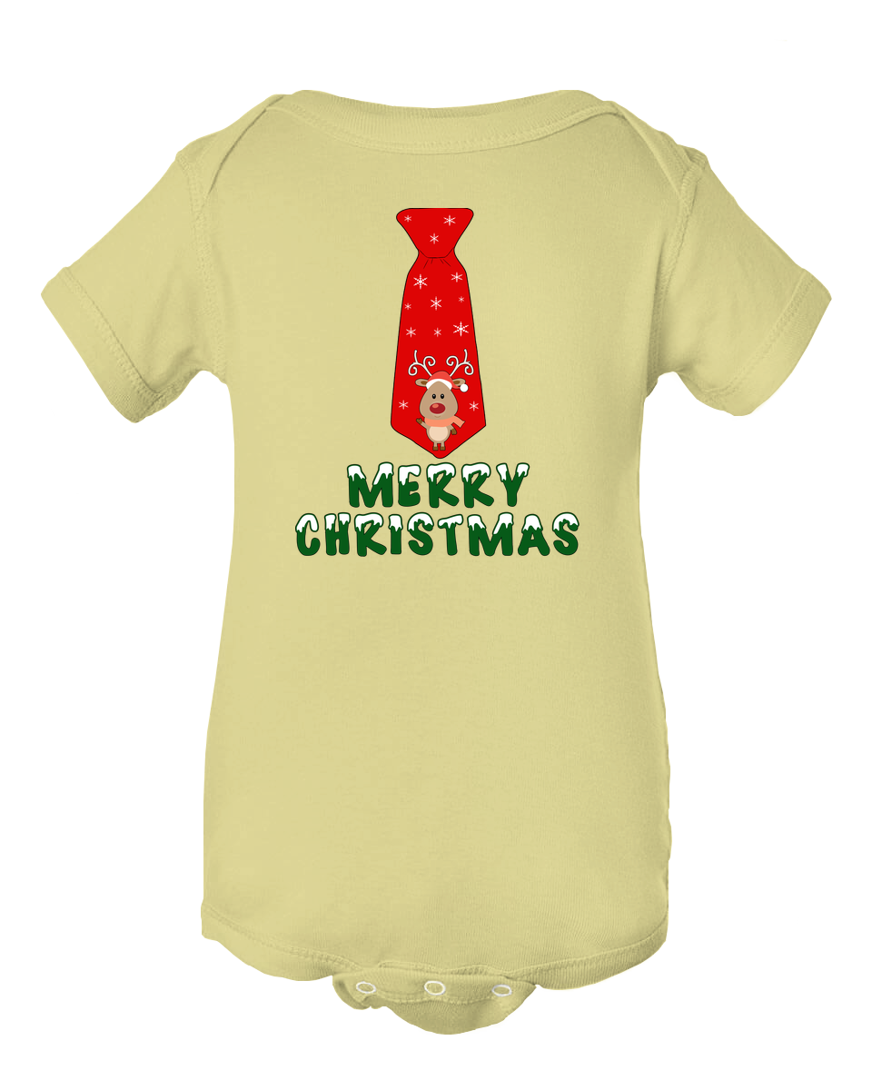 Baby Boy Merry Christmas Tie Infant Creeper Baby Onesie