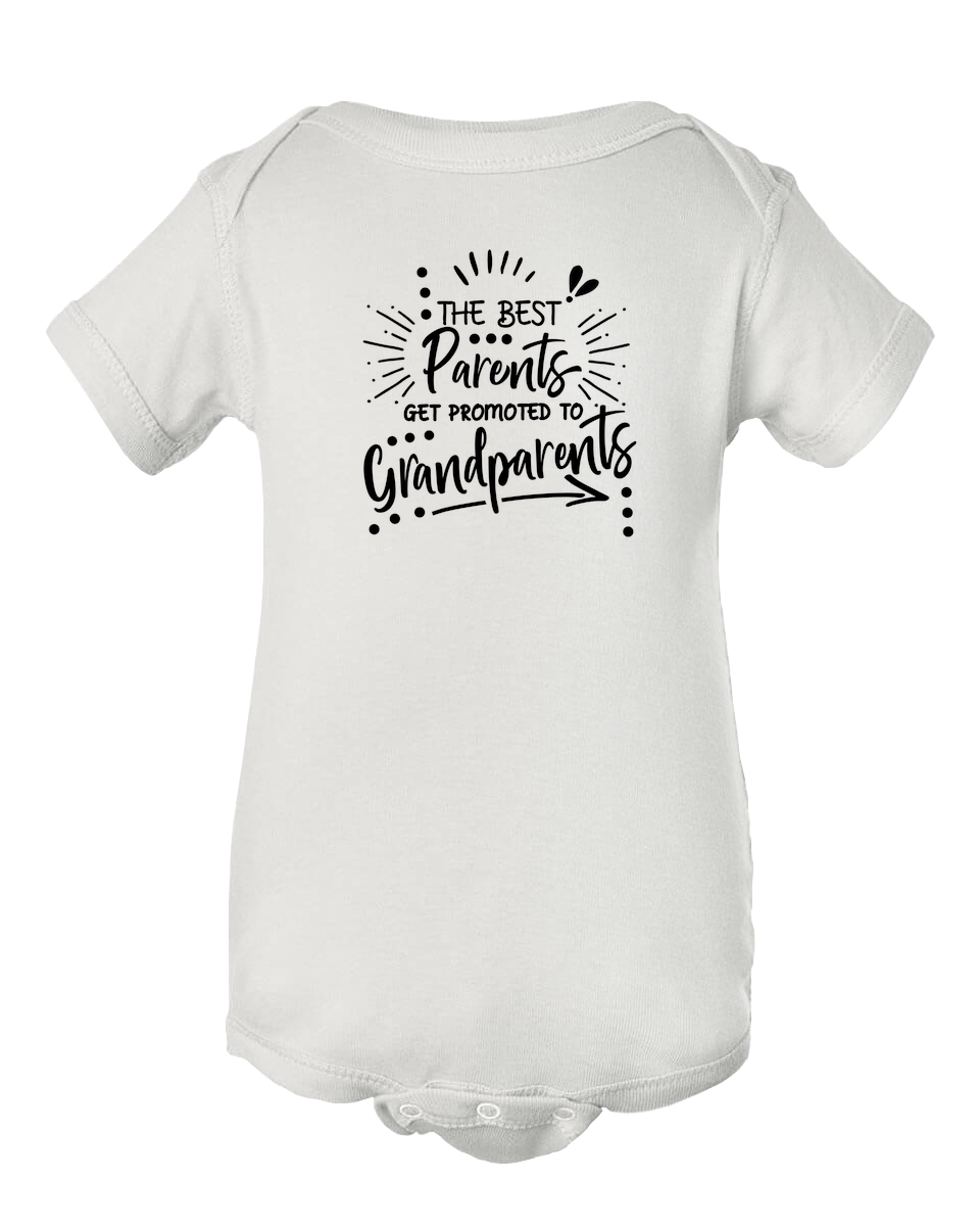 Best Parents Get Promoted to Grandparents Pregnancy Announcement Onesie