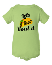 Funny Let's Taco 'Bout it Unisex Baby Onesie