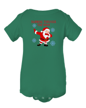 Dabbin Through The Snow Christmas Dabbing Santa Baby Onesie Bodysuit