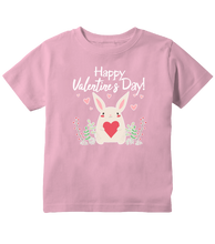 Happy Valentines Day Rabbit And Hearts Toddler T-Shirt