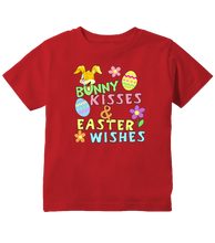 Bunny Kisses and Easter Wishes Easter Toddler T-Shirt