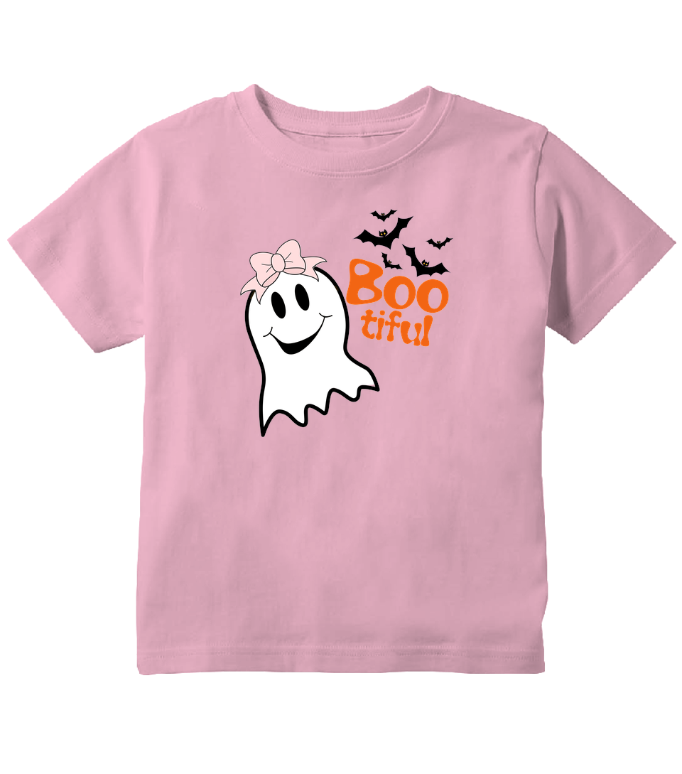 Boo-tiful Cute Halloween Ghost Toddler T-Shirt
