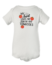 My Aunt Loves Me From My Head Tomatoes Baby Onesie Bodysuit