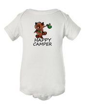 Happy Camper Cute Raccoon Baby Onesie Bodysuit