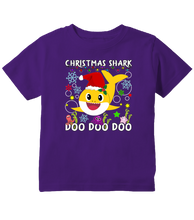 Christmas Shark Doo Doo Doo Cute Baby Shark Christmas Toddler T-Shirt