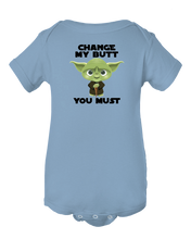 Change My Butt You Must, Funny Baby Short Sleeve Onesie Bodysuit Infant Romper
