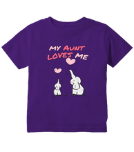 My Aunt Loves Me Elephant Toddler T-Shirt