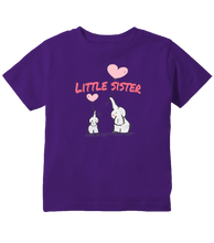 Little Sister Elephant And Heart Balloons Toddler T-Shirt