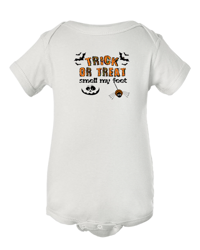 Trick or Treat Smell My Feet Halloween Baby Onesie Bodysuit