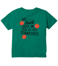 My Aunt Loves Me From My Head Tomatoes Toddler T-Shirt