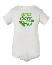 Cutest Clover in The Patch St Patricks Day  Baby Onesie Bodysuit