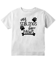 My Siblings Have Paws Funny Toddler T-Shirt