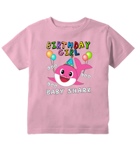Birthday Girl Baby Shark Doo Doo Doo Outfit Toddler T-Shirt