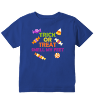 Trick Or Treat Funny Halloween Toddler T-Shirt