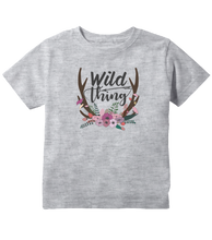 Wild Thing Boho Style Floral Toddler T-Shirt