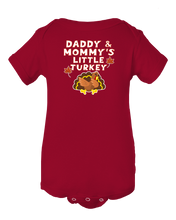 Mommy and Daddy's Little Turkey Thanksgiving Baby Onesie Bodysuit