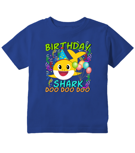 Baby Shark Doo Doo Doo Cute Birthday Shark Toddler T-Shirt