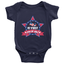 My First 4th of July Independence Day Gift USA Baby Bodysuit