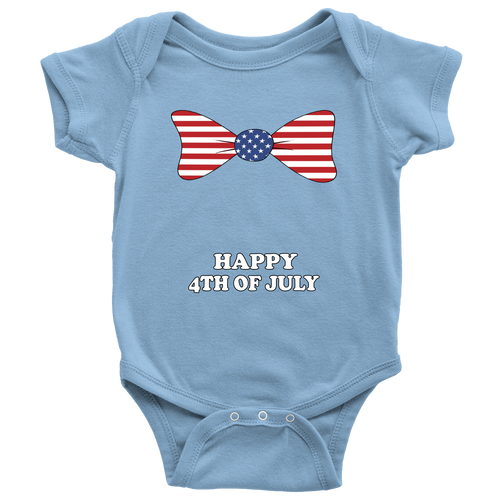 d3f16507d Unisex Baby Happy Fourth of July Infant Creeper Onesie